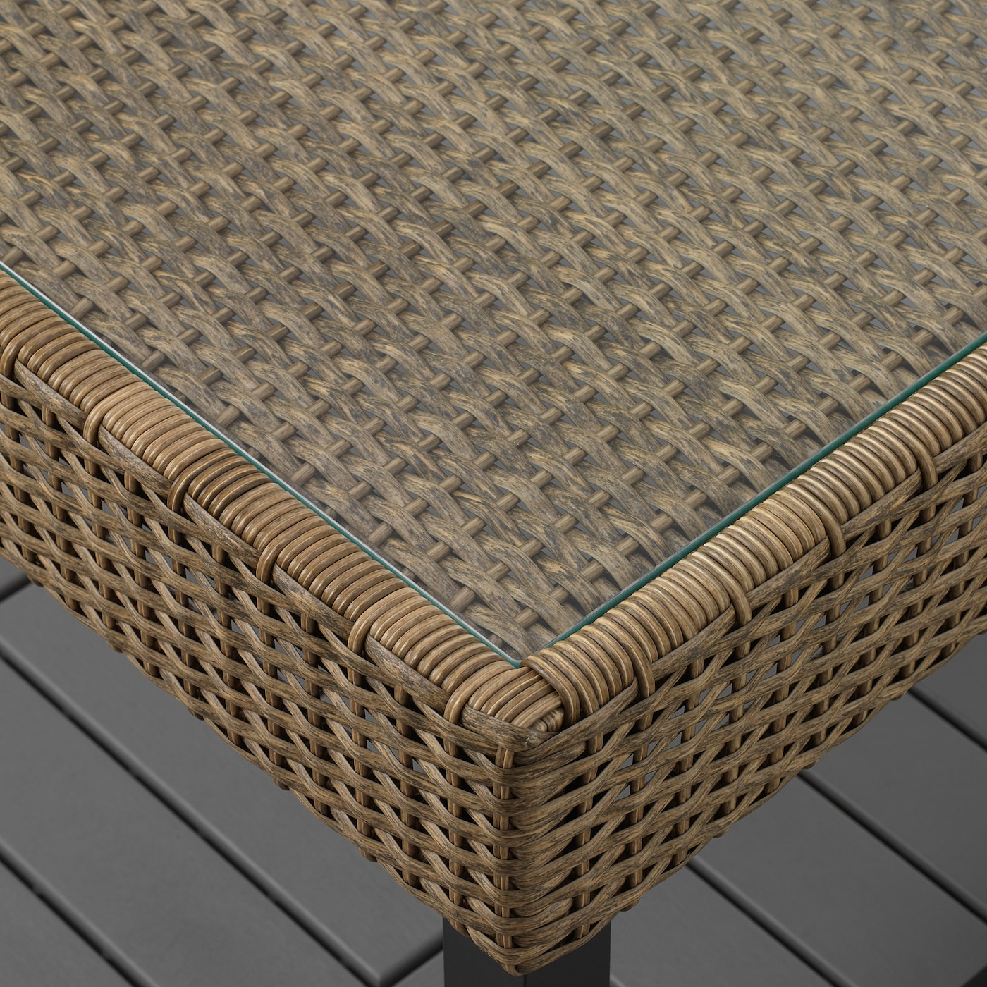Salontafel Met Webbing.Solleron 4 Seat Conversation Set Outdoor Brown Kuddarna Light