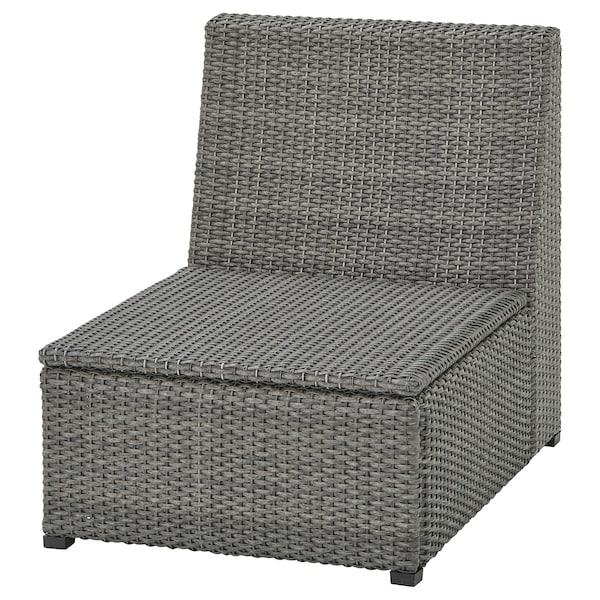 SOLLERÖN One-seat section, outdoor, dark gray