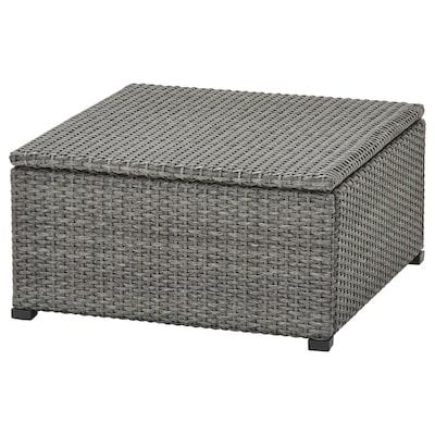 """SOLLERÖN stool, outdoor dark gray 24 3/8 """" 24 3/8 """" 12 5/8 """" 24 3/8 """" 24 3/8 """""""