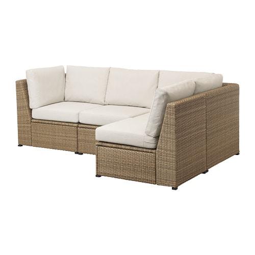 SOLLERÖN Modular Corner Sofa 3-seat, Outdoor