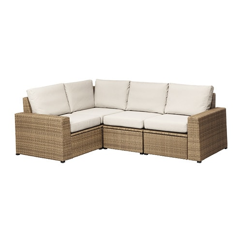Soller n 4 seat sectional outdoor brown fr s n for Ikea outdoor sectional