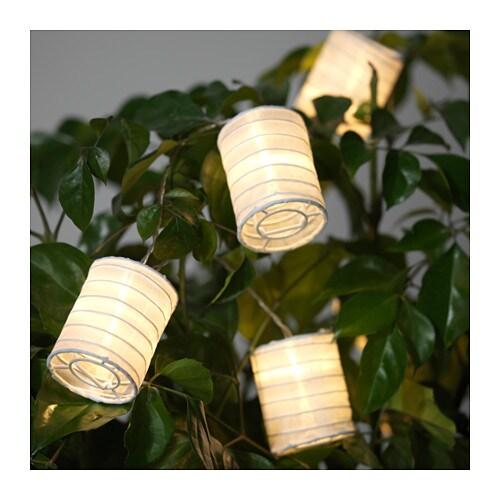 SOLVINDEN Decoration for light chain, tube-shaped white tube-shaped white -