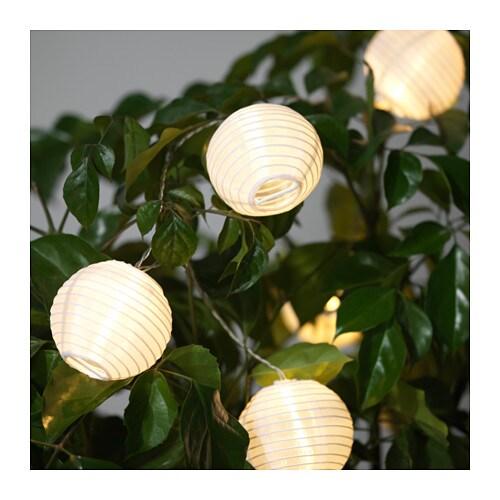SOLVINDEN Decoration for string light, globe white globe white -