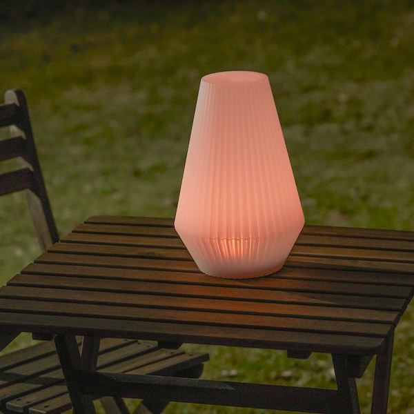 """SOLVINDEN LED solar-powered floor lamp outdoor/plastic white 8 """" 12 """""""