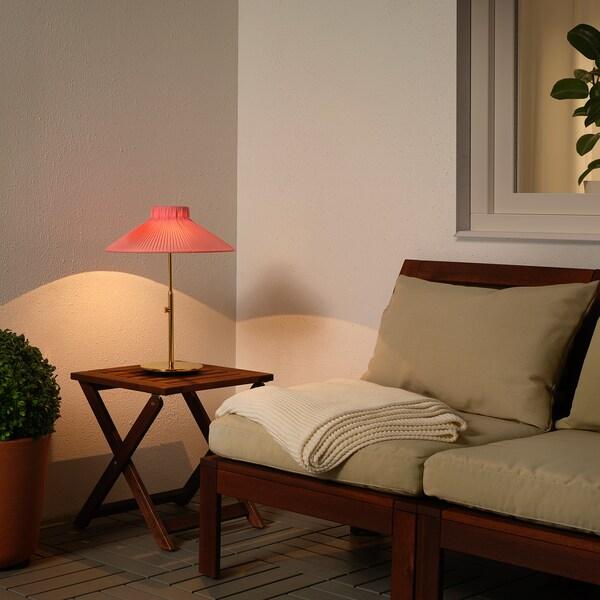 "SOLVINDEN LED solar-powered table lamp outdoor pink 8 Lumen 16 "" 14 "" 5 "" 1 pack"
