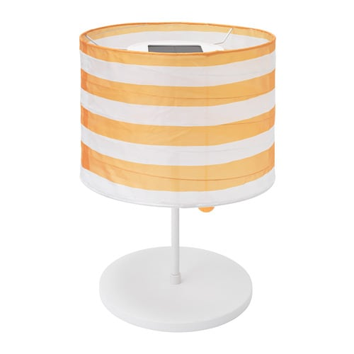 Enjoyable Solvinden Led Solar Powered Table Lamp Outdoor Stripe Yellow White Download Free Architecture Designs Meptaeticmadebymaigaardcom