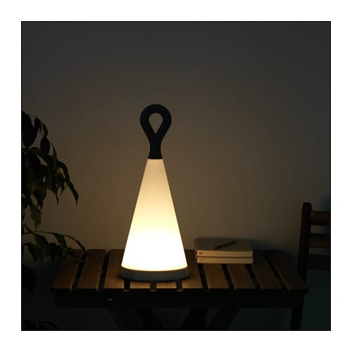 SOLVINDEN LED Solar Powered Table Lamp IKEA The Rechargeable Battery Is  Hidden Inside The Lamp
