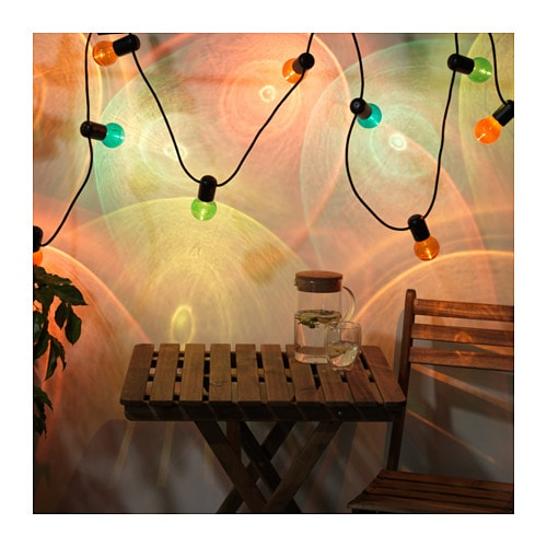 Solvinden led string light with 12 lights ikea for String lights for bedroom ikea