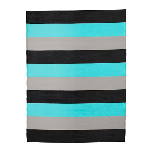 SOMMAR 2018 Rug flatwoven, in/outdoor, stripe, turquoise 5 ' 11