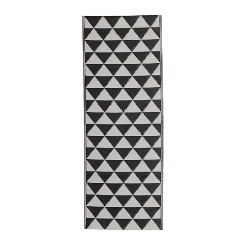 SOMMAR 2018 Rug flatwoven, in/outdoor, black/gray 2 ' 6