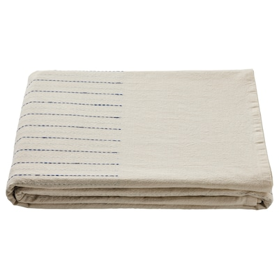 SOMMARDRÖM Tablecloth, beige/blue, 57x94 ""