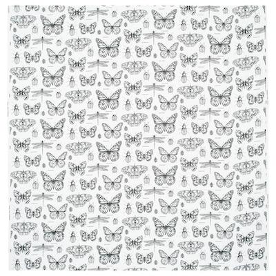 "SOMMARMALVA fabric off-white/dark gray 0.75 oz/sq ft 59 "" 12 """