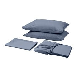 SÖMNTUTA sheet set, blue-gray