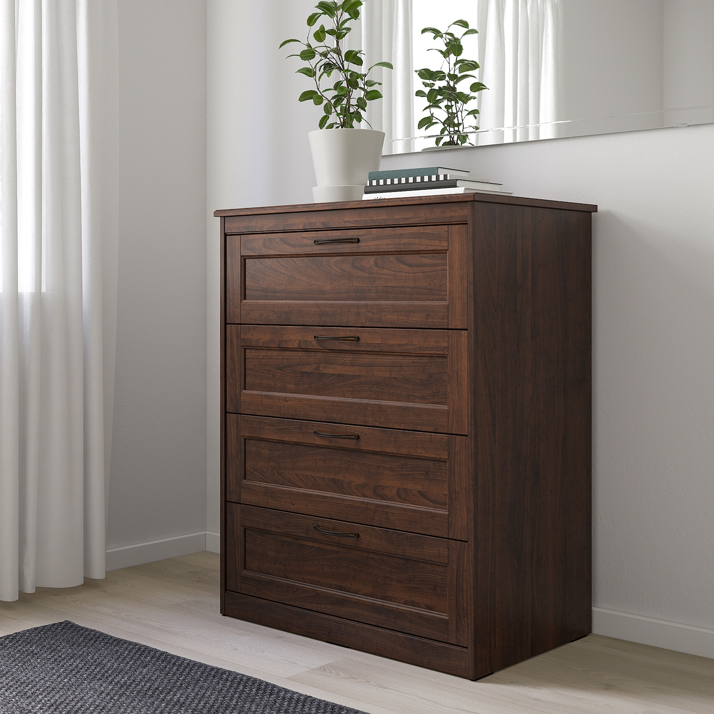 "SONGESAND 4-drawer chest brown 32 1/4 "" 19 5/8 "" 41 "" 28 "" 15 3/4 """