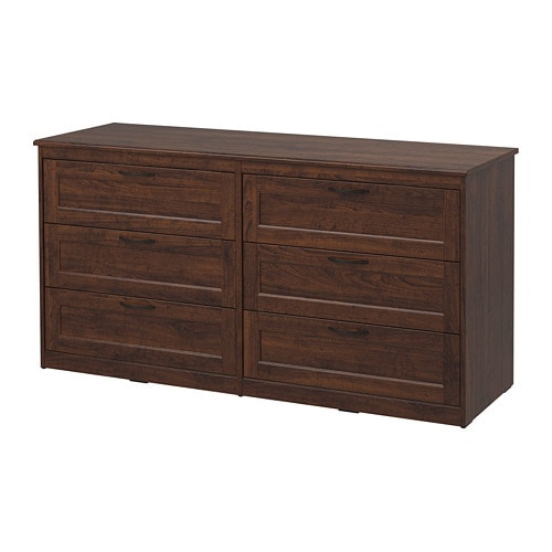 ikea bedroom dresser songesand 6 drawer dresser brown ikea 11831