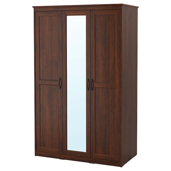 SONGESAND Wardrobe, brown, 47 1/8x23 5/8x75 1/4 ""