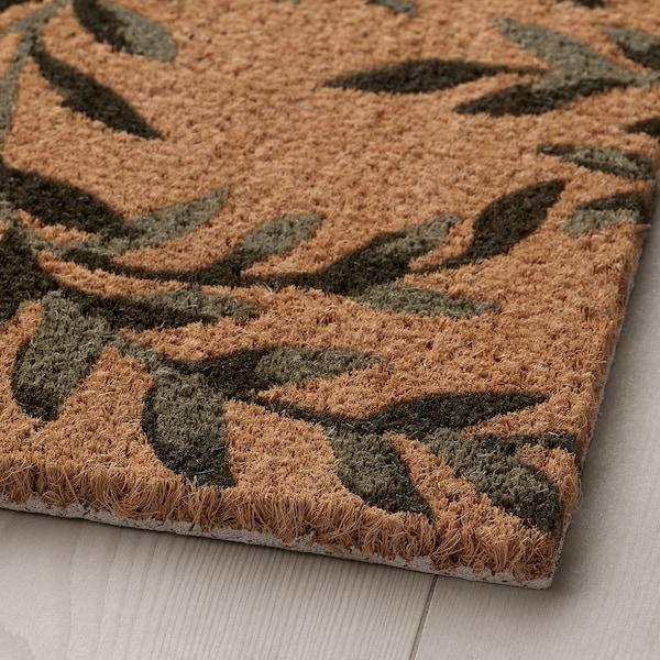 """SPARKÄR Door mat, indoor, green leaves, 1 ' 4 """"x2 ' 0 """""""