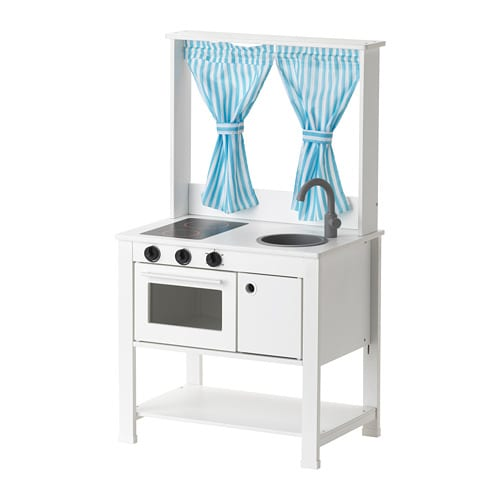 SPISIG Play kitchen with curtains IKEA