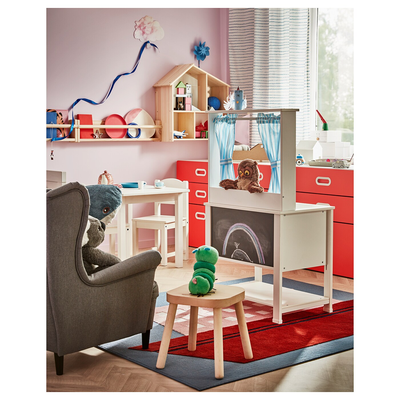 Spisig Play Kitchen With Curtains 21 5 8x14 5 8x38 5 8 Ikea