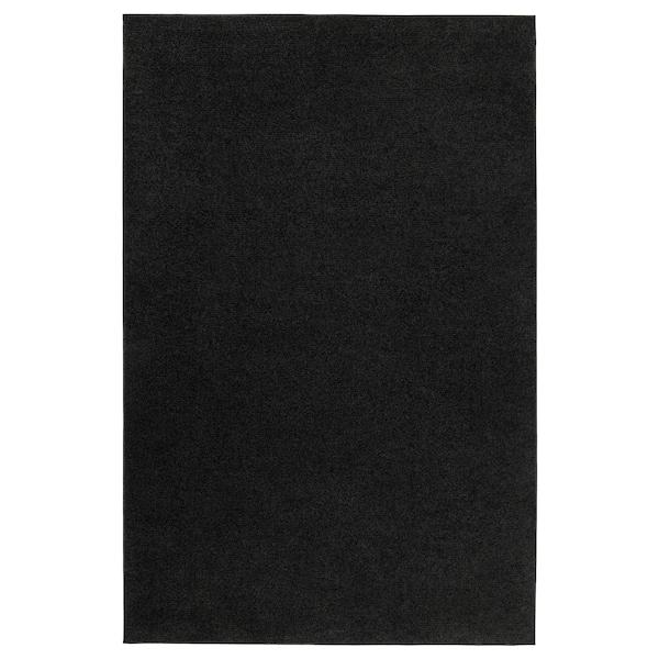 "SPORUP Rug, low pile, black, 4 ' 4 ""x6 ' 5 """