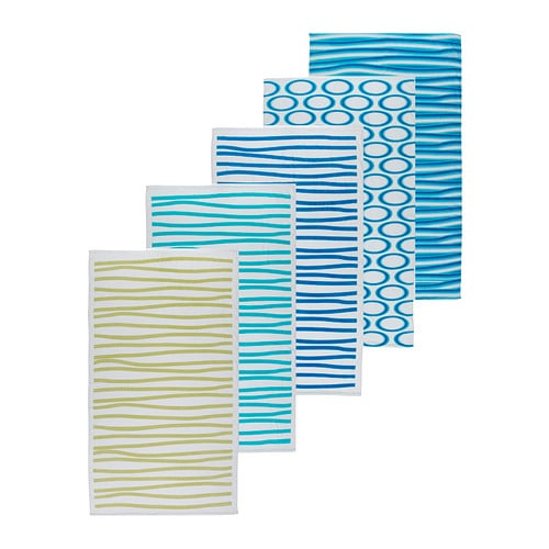 Ikea towel beach bathroom flamingo lines stripes circles for Ikea beach towels