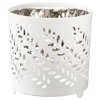 STABBIG Tealight holder, white/silver color, 3 ¼ ""