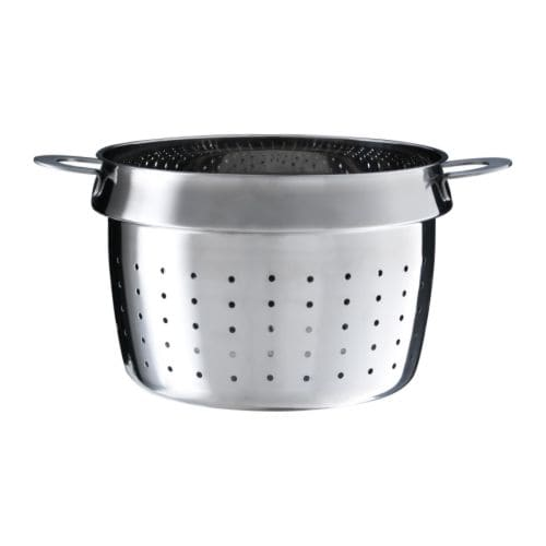 STABIL Pasta insert IKEA Works as a colander as well.  Can be used with most 4-5 quart pots.