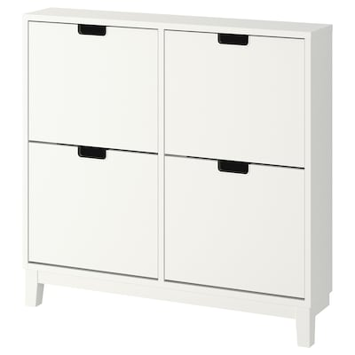 STÄLL Shoe cabinet with 4 compartments, white, 37 3/4x35 3/8 ""