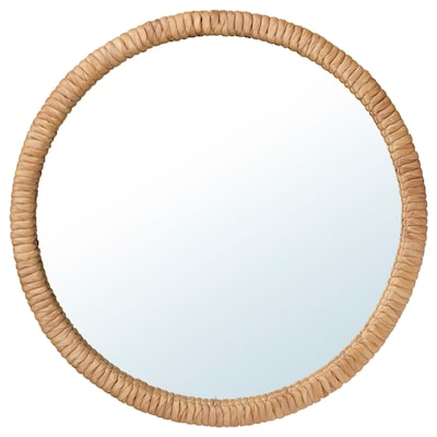 """STAFFANSTORP Mirror, water hyacinth, 19 5/8 """""""