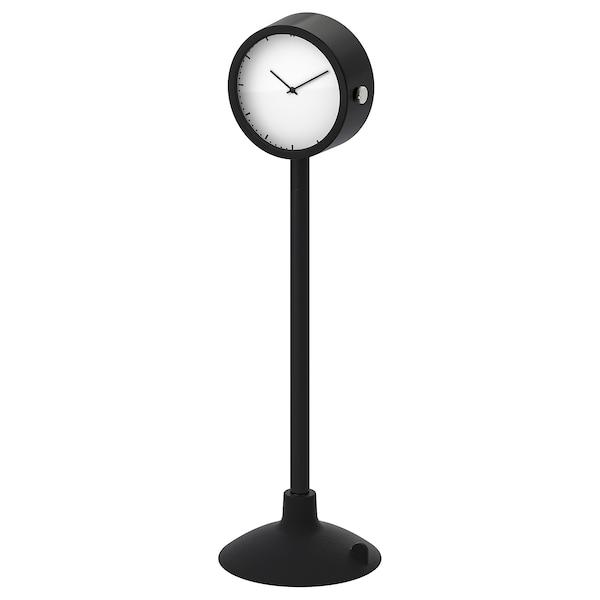 "STAKIG Clock, black, 6 ½ """