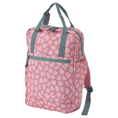 STARTTID Backpack, patterned/pink, 3 gallon