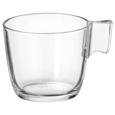 STELNA Mug, clear glass, 8 oz