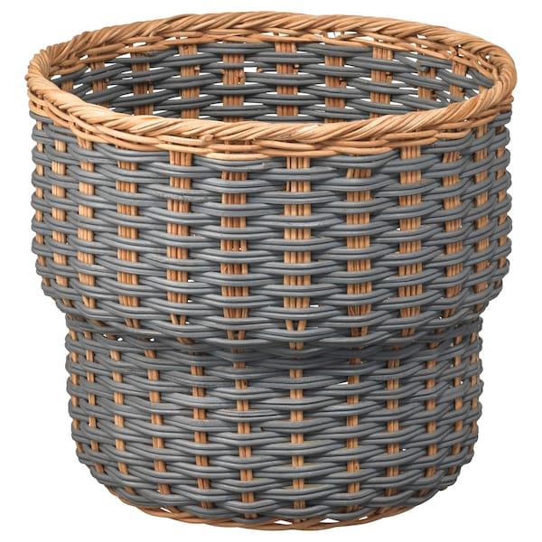 """STENBÄR Plant pot, gray, 9 ½ """""""