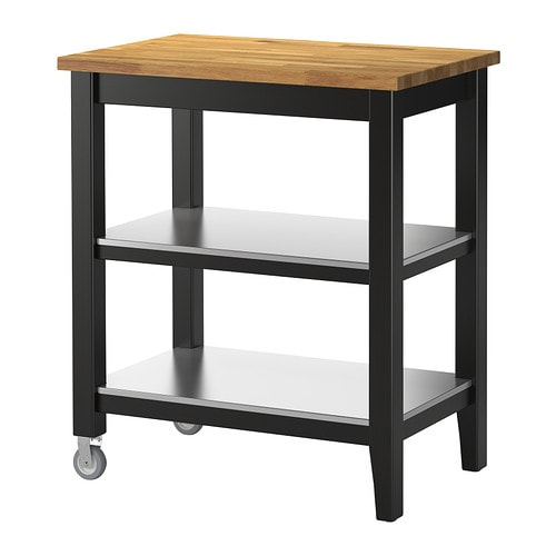 Ikea Stenstorp Kitchen Cart Black
