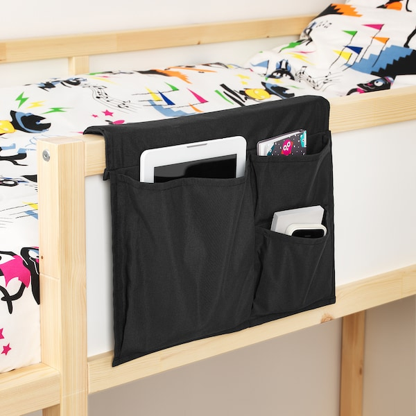"""STICKAT Bed pocket, black, 15 ¼x11 ¾ """""""