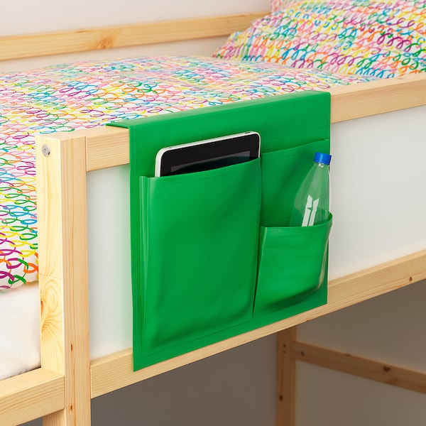 "STICKAT Bed pocket, green, 15 ¼x11 ¾ """