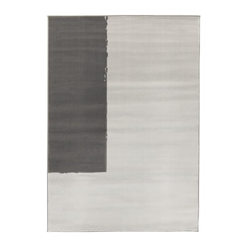 STILLEBÄK Rug, low pile, gray