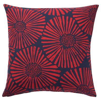 STJÄRNTULPAN Cushion cover, dark blue/red, 20x20 ""