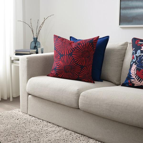"STJÄRNTULPAN cushion cover dark blue/red 20 "" 20 """