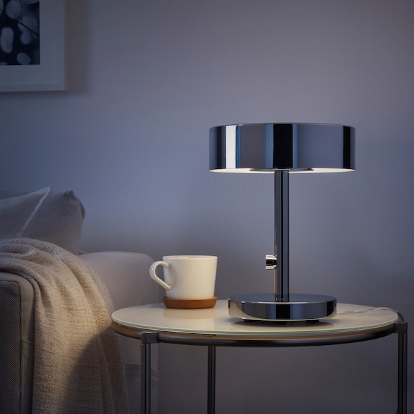 STOCKHOLM 2017 Table lamp with LED bulb, chrome plated
