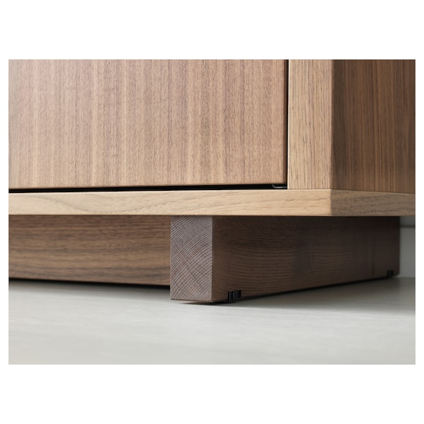 "STOCKHOLM cabinet with 2 drawers walnut veneer 35 3/8 "" 15 3/4 "" 42 1/8 "" 26 lb 7 oz"