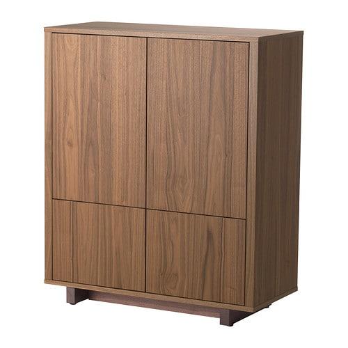 STOCKHOLM Cabinet with 2 drawers, walnut veneer walnut veneer 35 3/8x42 1/8