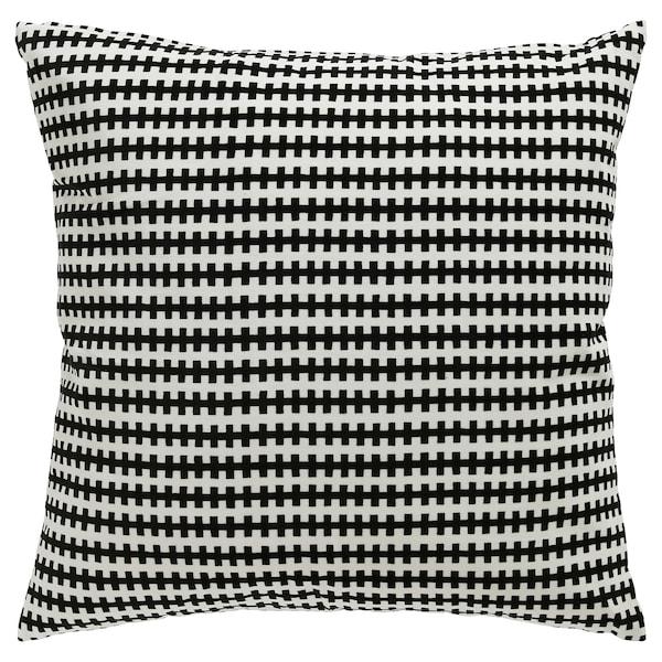 "STOCKHOLM Cushion, black/white, 20x20 """