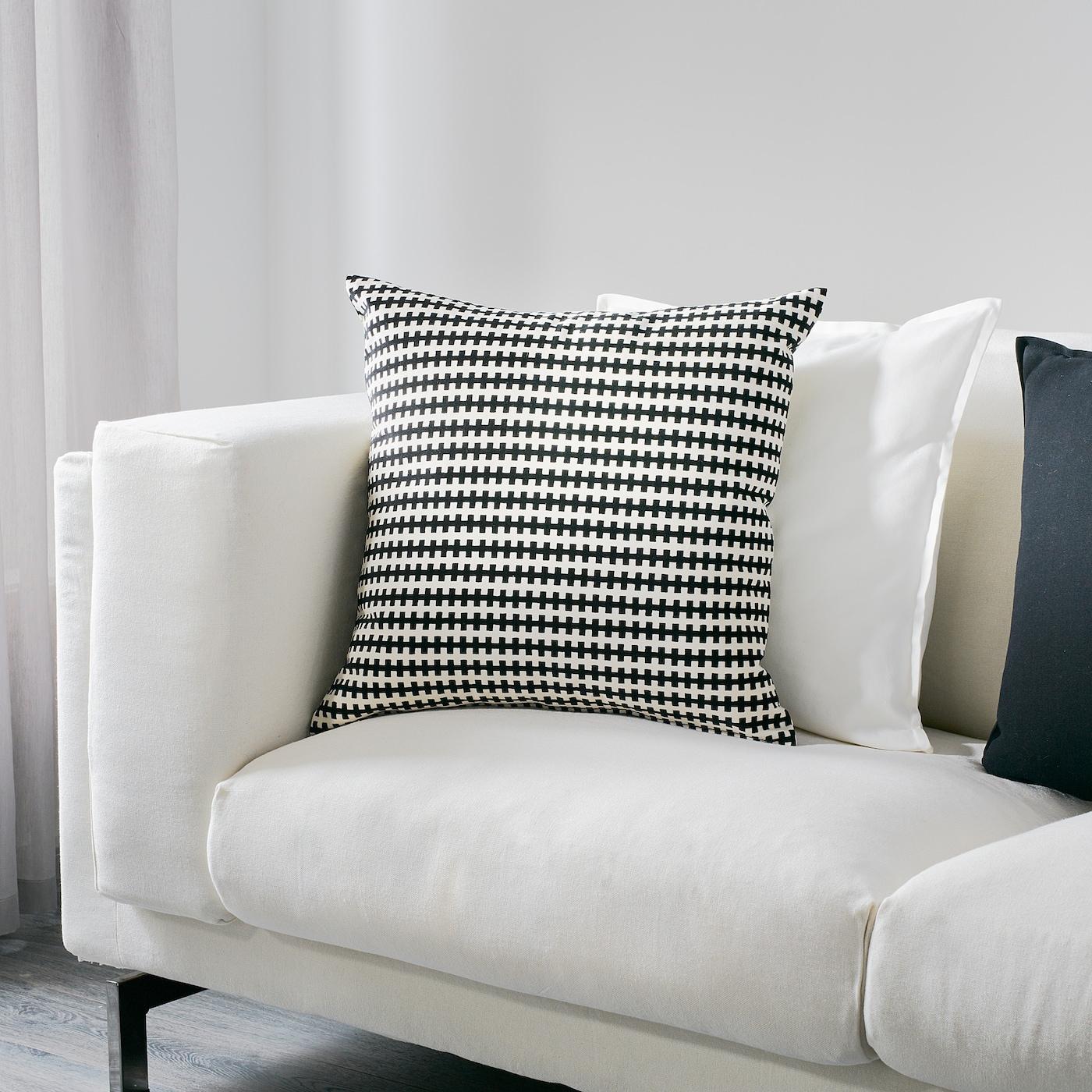 IKEA Skarvfro Cushion Black White 12x24 004.258.38