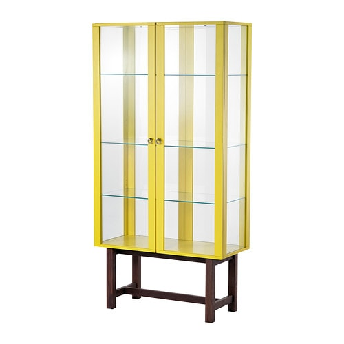 stockholm glass door cabinet yellow ikea. Black Bedroom Furniture Sets. Home Design Ideas