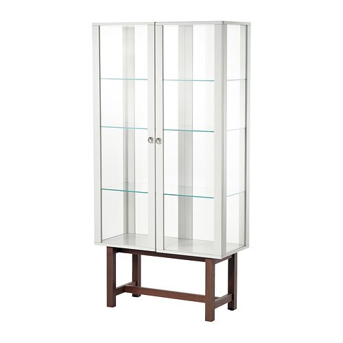 Stockholm Glass Door Cabinet Beige Ikea