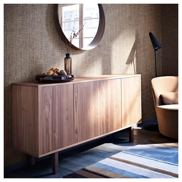 "STOCKHOLM Mirror, walnut veneer, 31 1/2 """