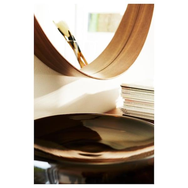 "STOCKHOLM Mirror, walnut veneer, 23 5/8 """