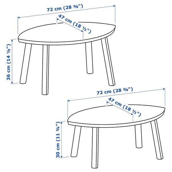 IKEA STOCKHOLM Nesting tables, set of 2