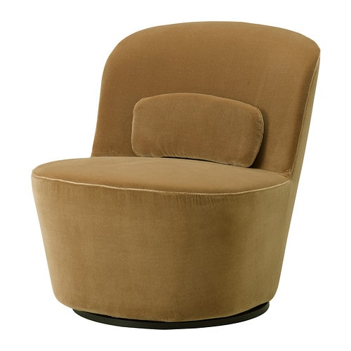 Stockholm Swivel Easy Chair Sandbacka Dark Beige Ikea